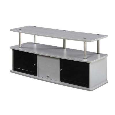 Designs2Go Gray 3 Cabinet TV Stand