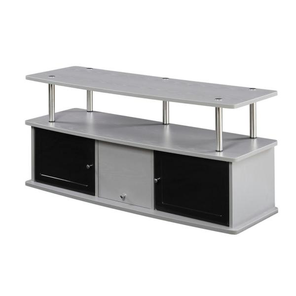 Delicieux Convenience Concepts Designs2Go Gray 3 Cabinet TV Stand