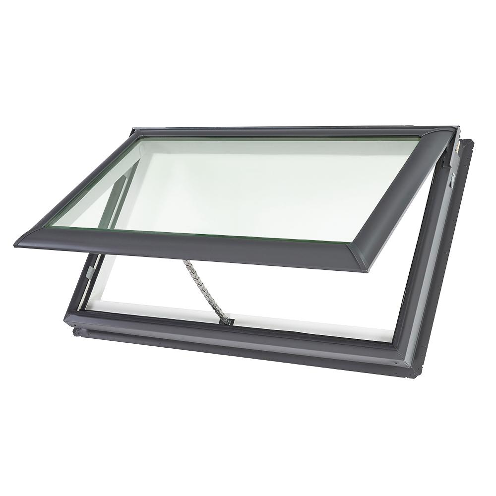 VELUX 44-1/4 x 26-7/8 in. Fresh Air Venting Deck-Mount Skylight with Laminated Low-E3 Glass
