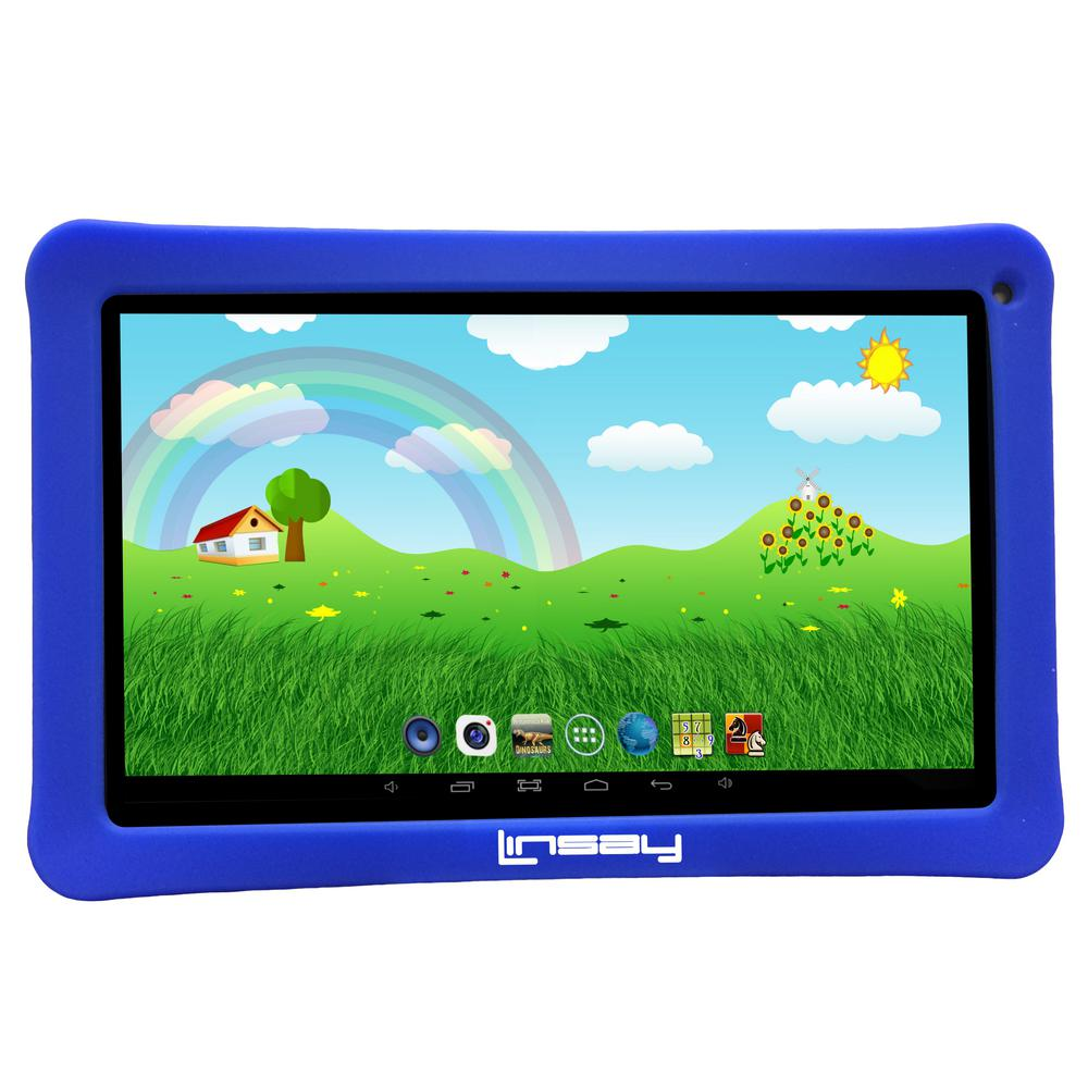 LINSAY 10.1 in. 2GB RAM 16GB Android 9.0 Pie Quad Core Tablet with Blue Kids Defender Case was $159.99 now $79.99 (50.0% off)