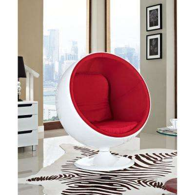 Kaddur Red Fiberglass Lounge Chair