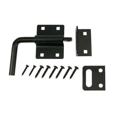 5 in. Black Heavy Duty Gate Slide Bolt Latch
