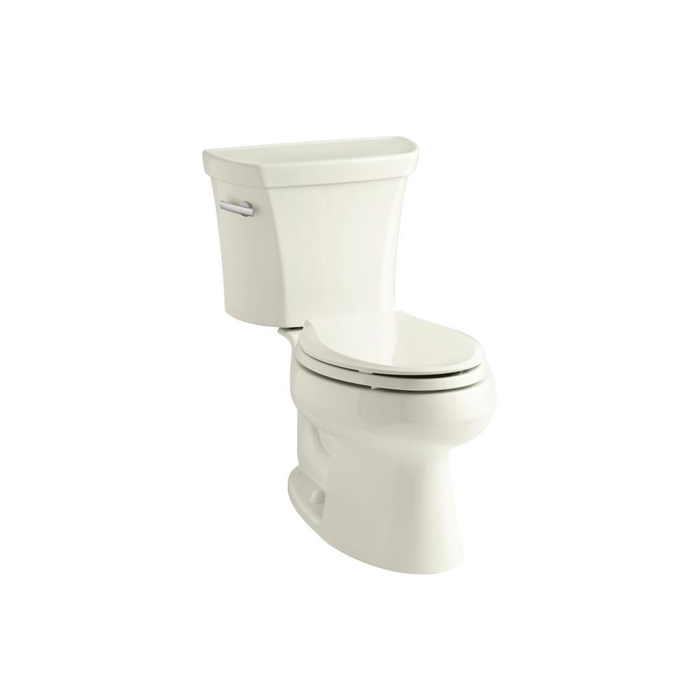 KOHLER Wellworth 2-Piece 1.6 GPF Single Flush Elongated Toilet in Biscuit