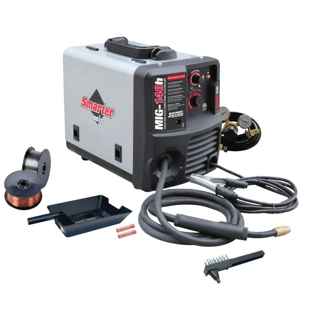 Smarter Tools 120-Volt Solid Wire and Flux-Cored Welder-MIG-140h ...
