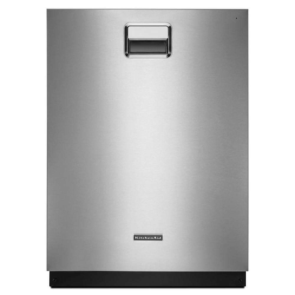 KitchenAid Top Control Tall Tub Dishwasher in Stainless Steel with Stainless Steel Tub ProScrub Trio Option 39 dBA