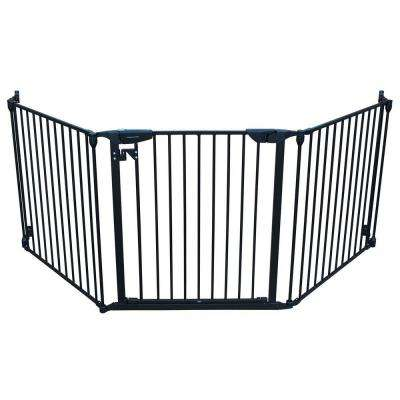 XpandaGate 29.5 in. H x 100 in. W x 2 in. D Expandable Pet Gate in Black