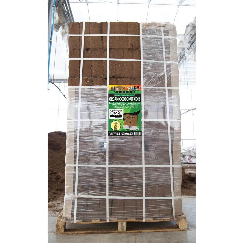 2,200 lbs. Coir Block Pallett (220-230 Coir Blocks)