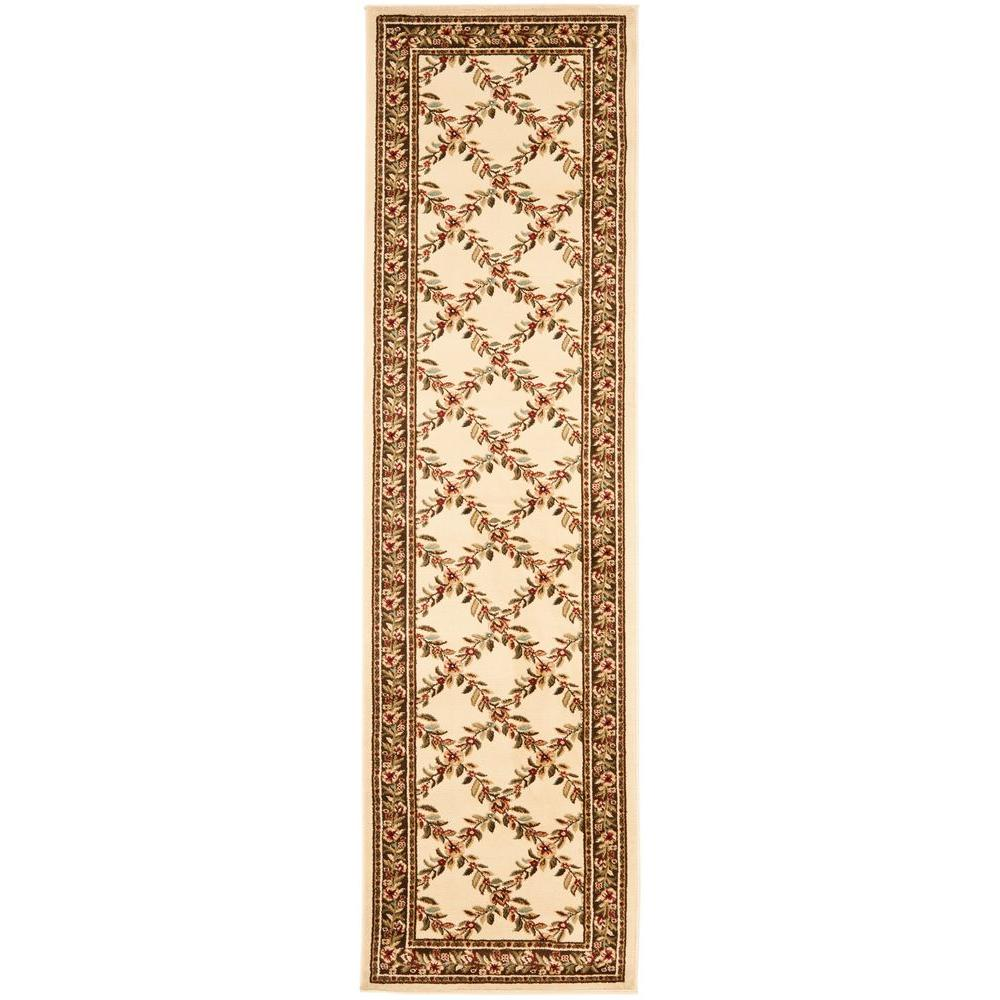 Lyndhurst Ivory/Brown 2 ft. 3 in. x 12 ft. Runner