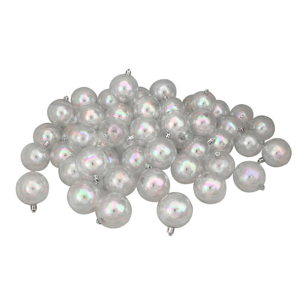 Northlight Clear Iridescent Shatterproof Christmas Ball ...