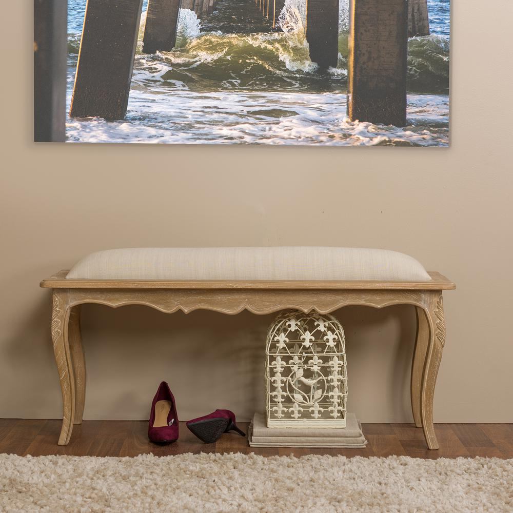 Clotilda Beige Bench
