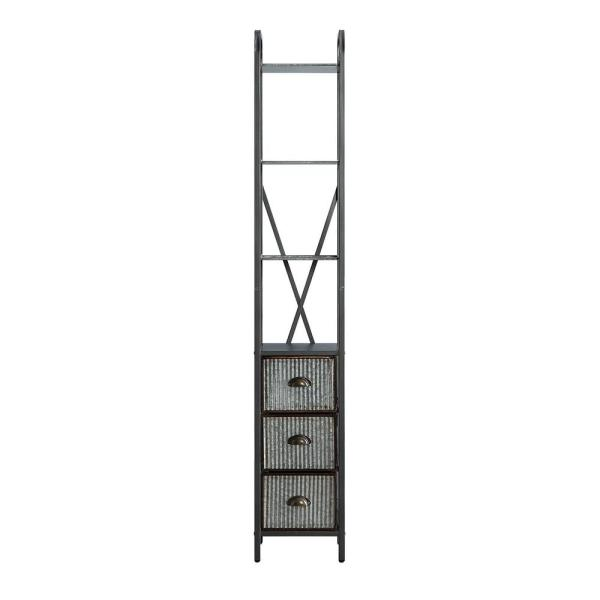 4D Concepts Intek 11.8 in. W x 11.22 in. D x 72.6 in. H Silver 3-Drawer Floor Cabinet
