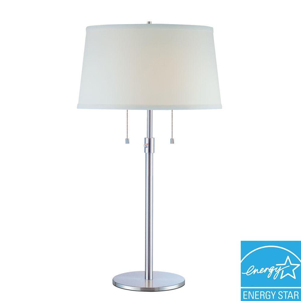 Trend Lighting Urban Basic 31 in. Adjustable Polished Chrome Table Lamp