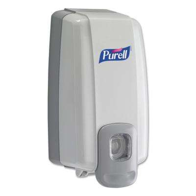NXT Instant Hand Sanitizer Dispenser, 1000 ml, 5-1/8 in. W x 4 in. D x 10 in. H, WE/Gray