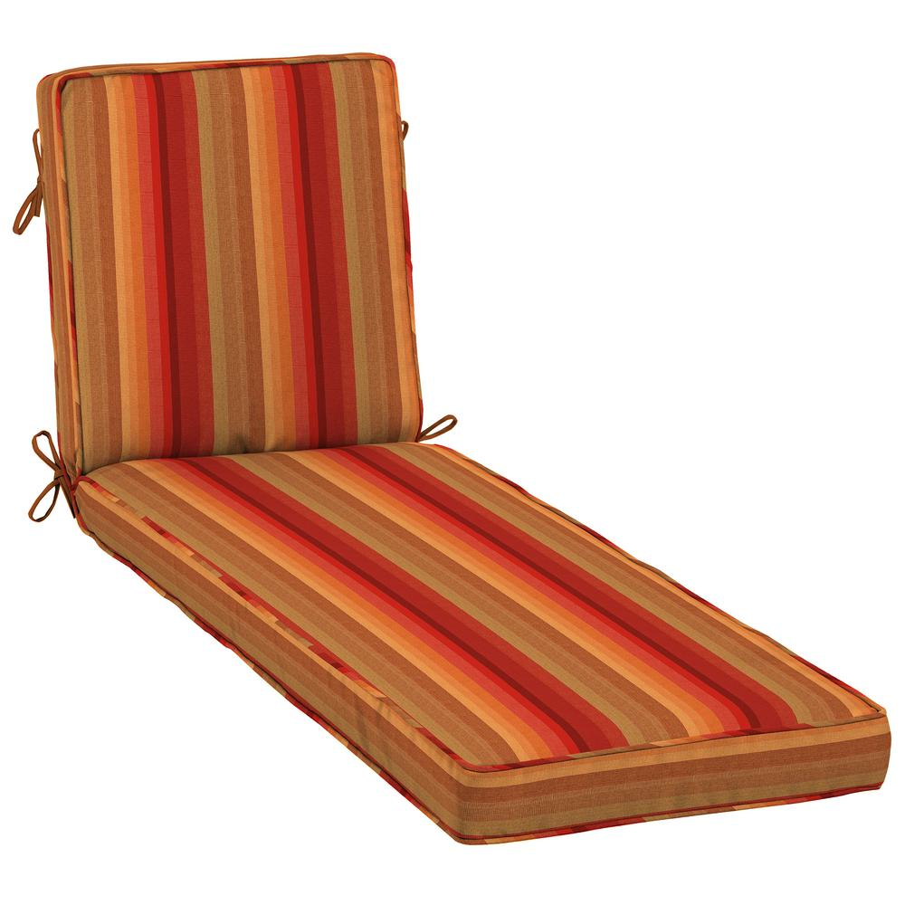 Home Decorators Collection 23 x 80 Sunbrella Astoria Sunset Outdoor Chaise Lounge Cushion