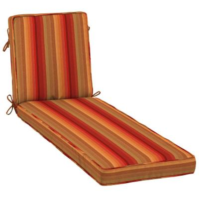 23 x 80 Sunbrella Astoria Sunset Outdoor Chaise Lounge Cushion