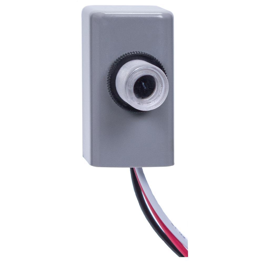 EK4000 1,000-Watt LED/Incandescent Fix Mount Button Electronic Photo Control, Gray