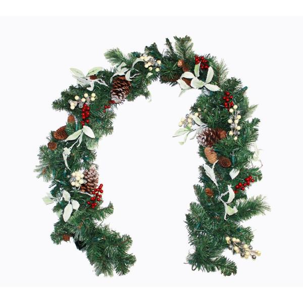 6 ft. Lighted Decorated Garland with Timer