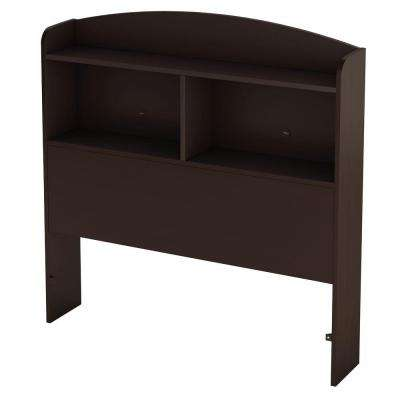 Logik Twin-Size Bookcase Headboard in Chocolate