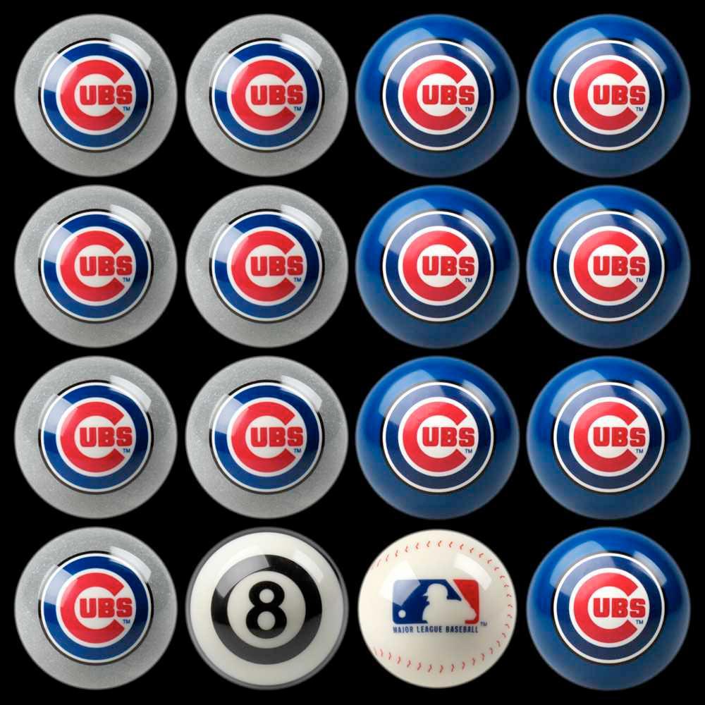 Chicago Cubs Home Vs Away Billiard Ball Full Set of 16