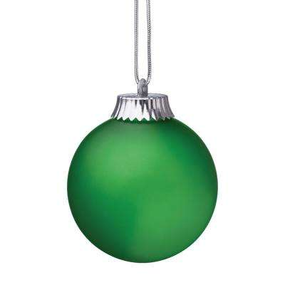 5 in. Green Single LED Outdoor Hanging Globe Ornament