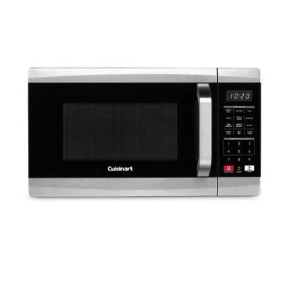 0.7 cu. ft. 700-Watt Countertop microwave in Black and Stainless Steel