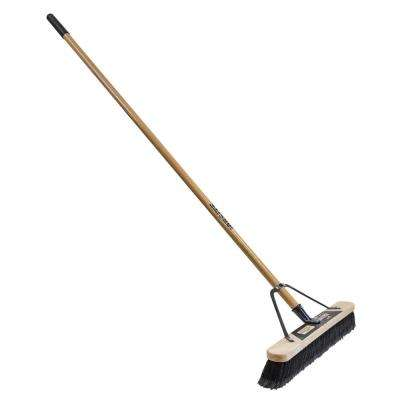 Job Site 24 in. Soft Sweep Pushbroom-Set Up (2-Pack)