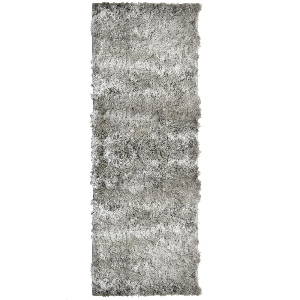 So Silky Grey 2 ft. x 13 ft. Area Rug