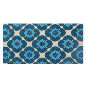 A1HC First Impression Yahir Floral 24 inch x 48 inch Coir Door Mat by