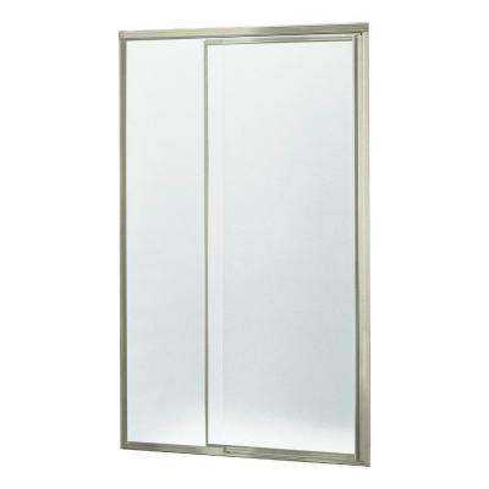 Vista Pivot II 48 in. x 65-1/2 in. Framed Pivot Shower Door in Nickel with Handle
