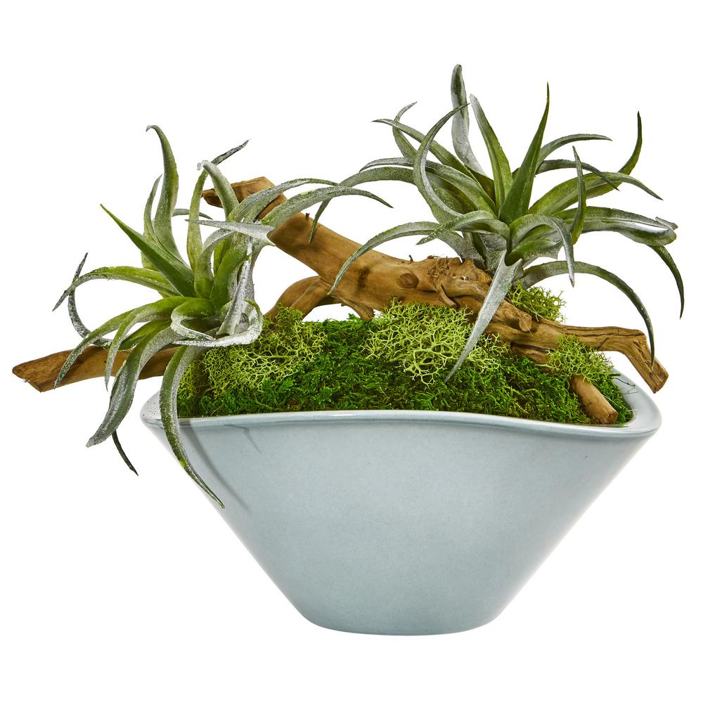 nearly natural indoor air plant artificial succulent in. Black Bedroom Furniture Sets. Home Design Ideas
