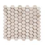 Travertine Constellation 10.5 in. x 11.5 in. x 8 mm Hexagon Honed Marble Wall and Floor Mosaic Tile
