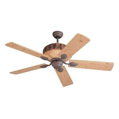 Great Lodge 52 in. Weathered Iron/Lodge Pine Ceiling Fan