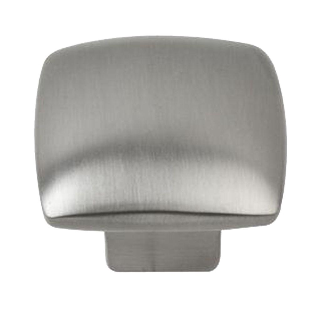 1-1/4 in. Satin Nickel Square Cabinet Knob