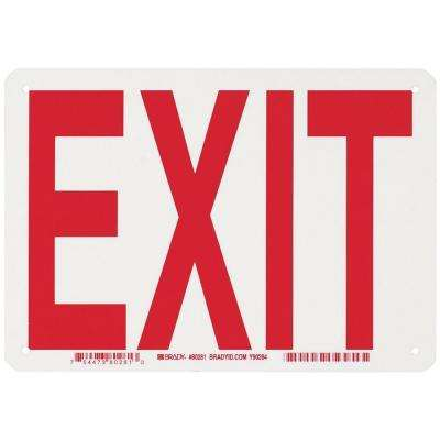 7 in. x 10 in. Glow-in-the-Dark Plastic Exit Sign
