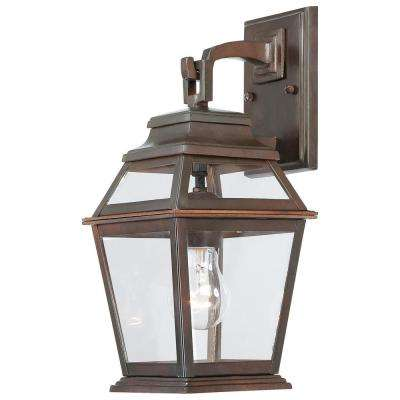 Crossroads Point 1-Light Architectural Bronze Outdoor Wall Mount Lantern