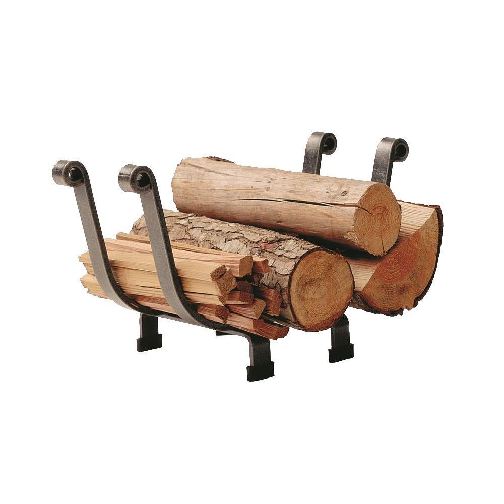 1.5 ft. Basket Log Rack with Hammered Steel Finish