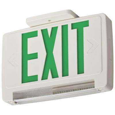 Thermoplastic LED Integrated Emergency Exit Sign/Fixture Unit Combo