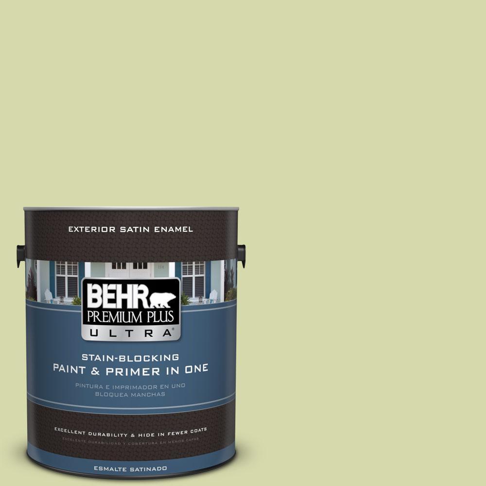 BEHR Premium Plus Ultra 1-gal. #410C-3 Celery Sprig Satin Enamel Exterior Paint