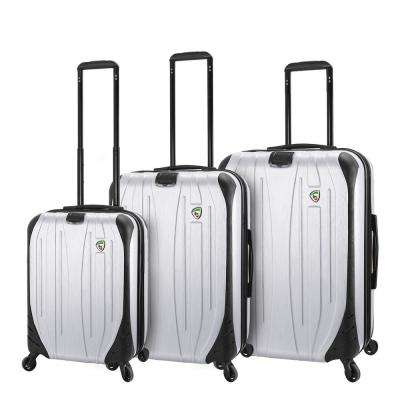 Compaz 3-Piece White Hardside Spinner Luggage Set