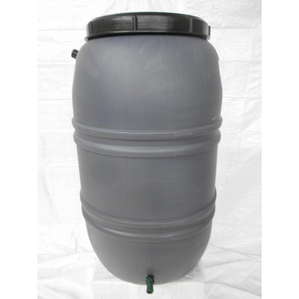 Unbranded 55 Gal Grey Rain Barrel Gro The Home Depot