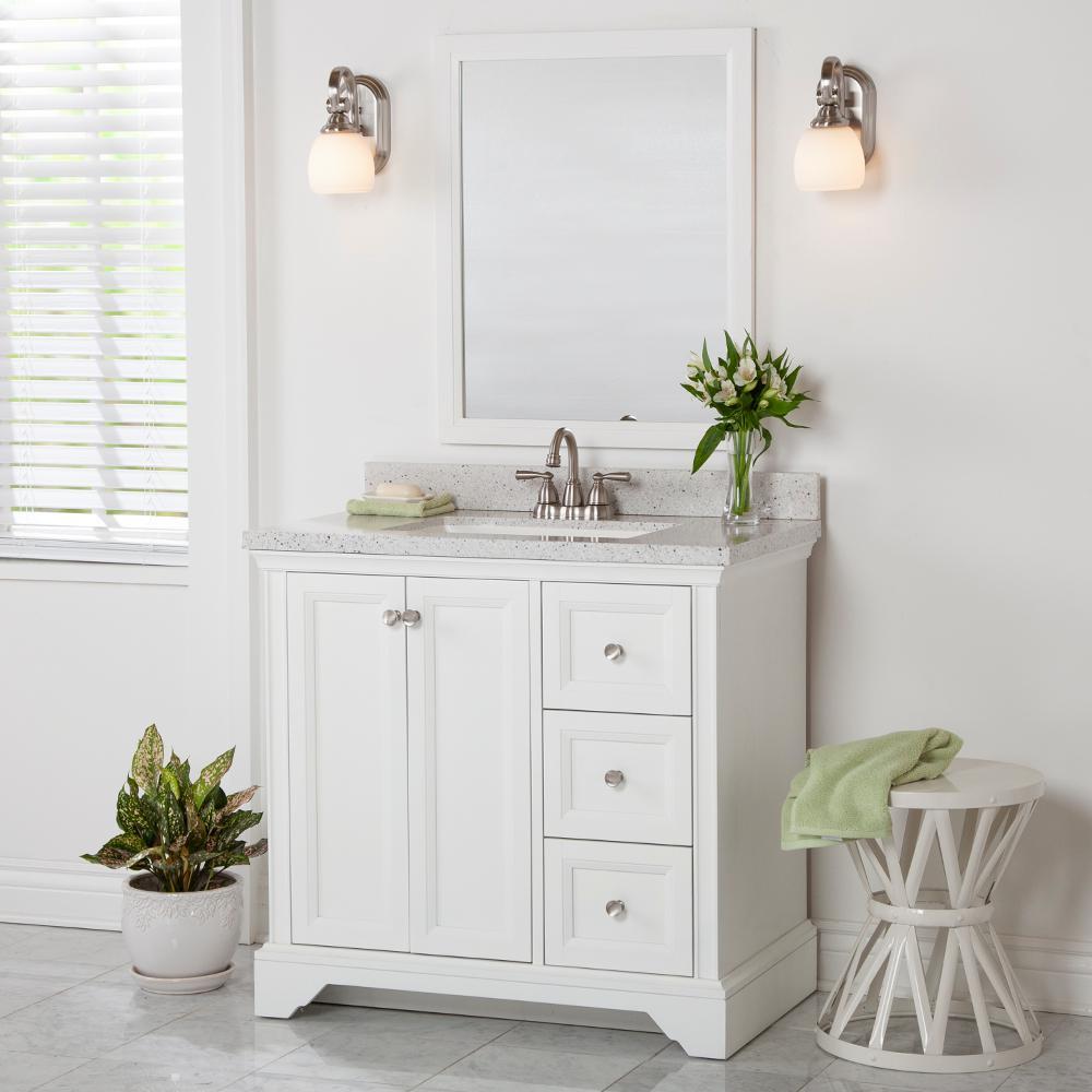 Stratfield 36 in. W x 22 in. D x 34 in. H Bath Vanity Cabinet Only in White