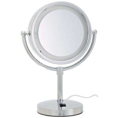 10.75 in. x 15 in. Lighted Table Mirror