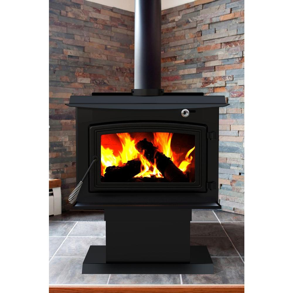 pleasant hearth 2 200 sq ft epa certified wood burning stove ws rh homedepot com outdoor wood burning freestanding fireplace outdoor wood burning freestanding fireplace