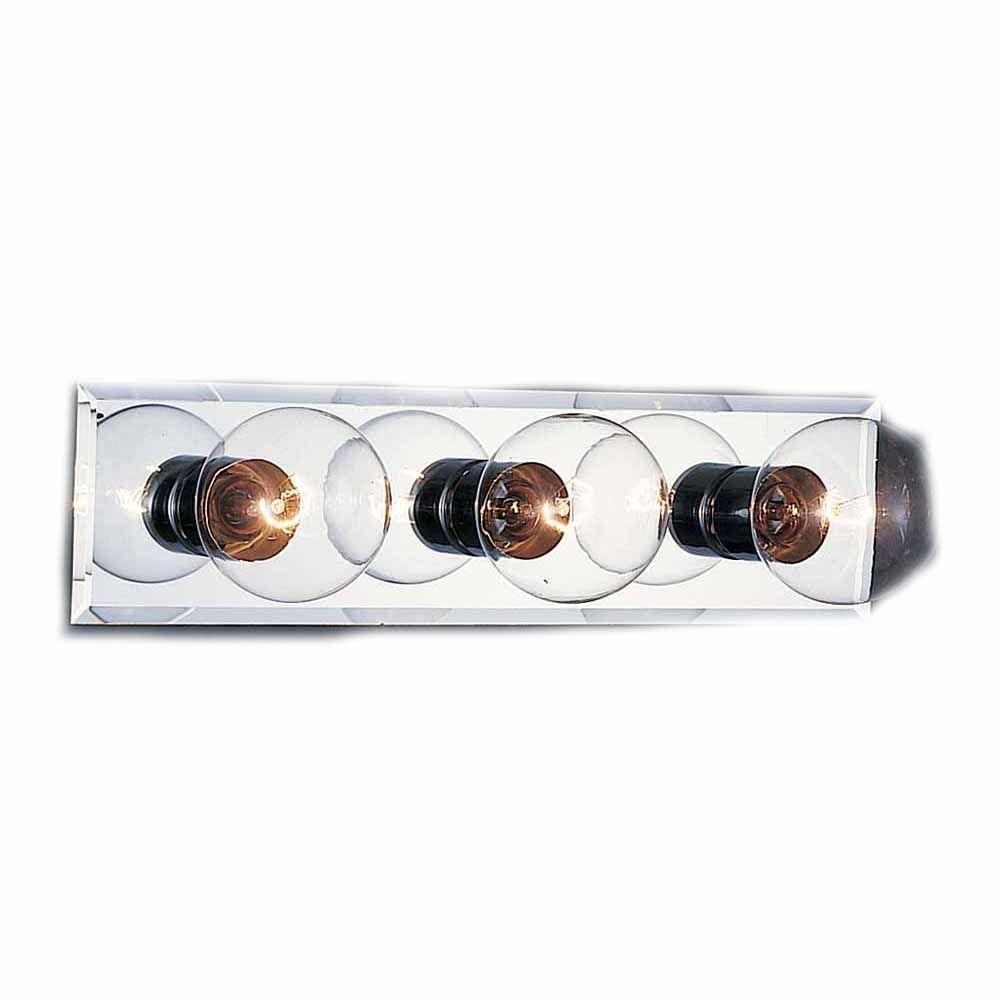 Lenor 3-Light Chrome Bath Vanity Light