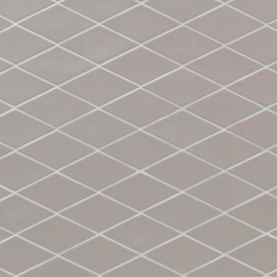 LuxeCraft Handmade Gray Rhombus 3 in. x 6 in. Glazed Wall Ceramic Tile (5.04 sq. ft. / case)