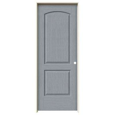 30 in. x 80 in. Continental Stone Stain Left-Hand Solid Core Molded Composite MDF Single Prehung Interior Door
