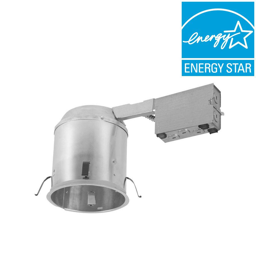 Recessed Lighting Installation Insulated Ceiling : Halo h in aluminum led recessed lighting housing for