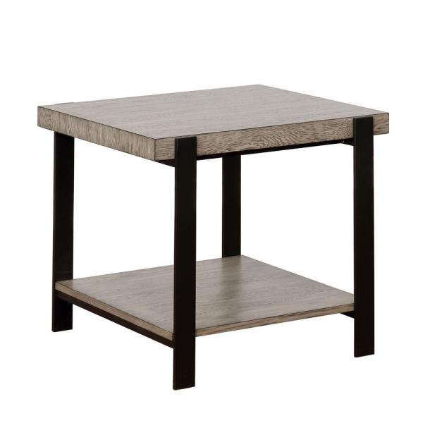 Furniture Of America Jimmy Gray 1 Shelf End Table