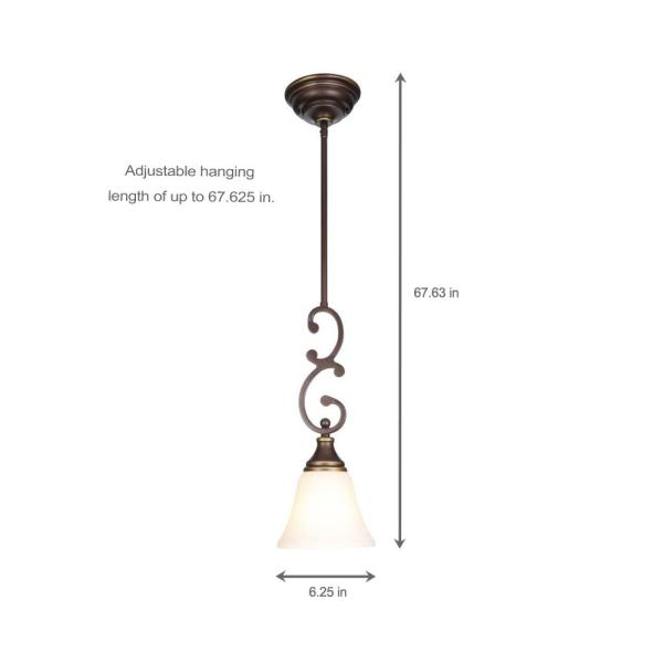 Light Oil Rubbed Bronze Mini Pendant