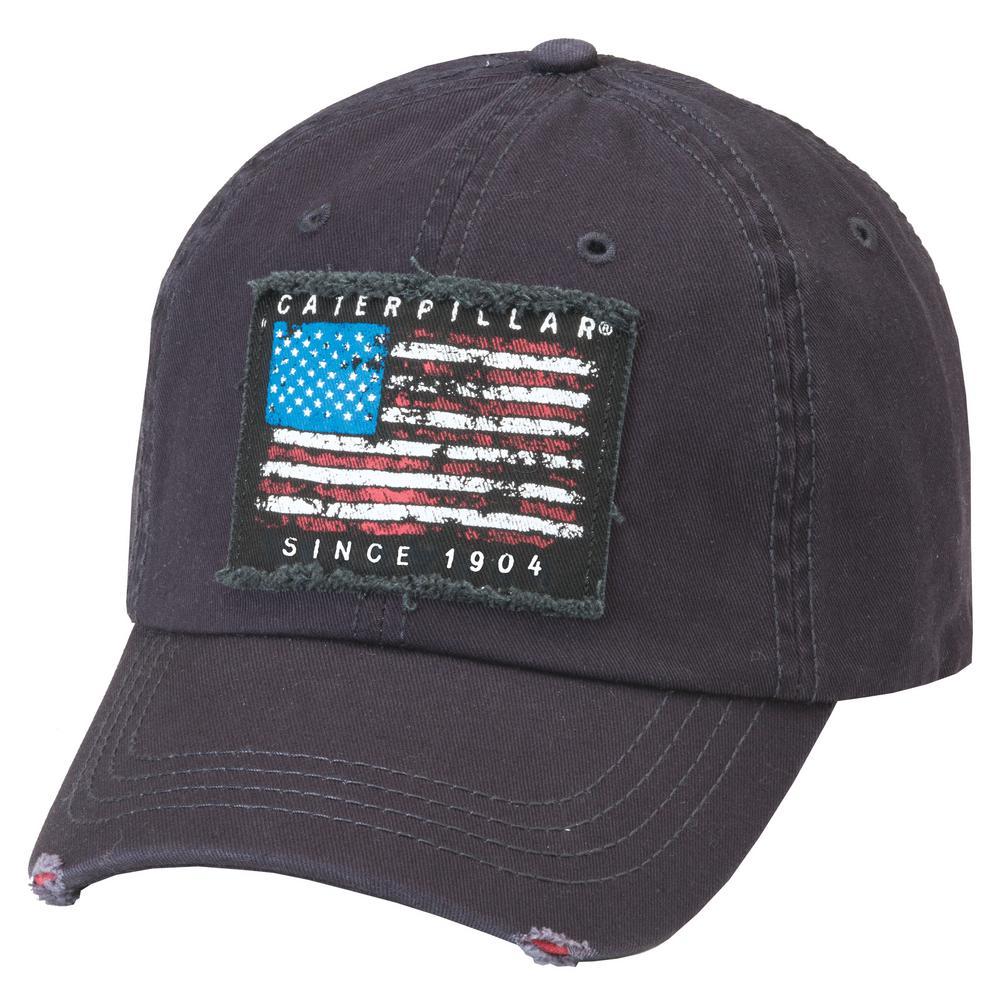 Caterpillar Americana Men s One Size Navy Cotton Twill Cap Headwear ... 55be92a93a4
